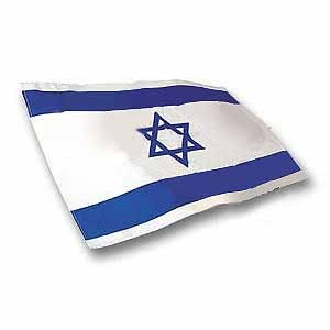Israel-Flagge (Fahne) mit Stock, 30 x 45 cm