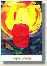"""Weihnachtspostkarte """"Gesegnetes Christfest"""""""