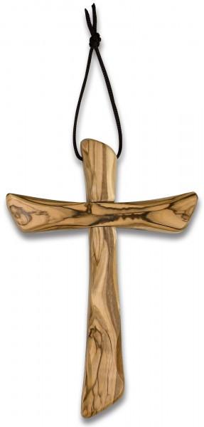 Schlichtes Olivenholz-Kreuz 17 cm