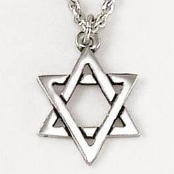 Halskette mit Davidstern-Anhänger - 16 mm (Star of David)