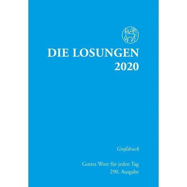 Losungen 2020 hellblau, Großdruck