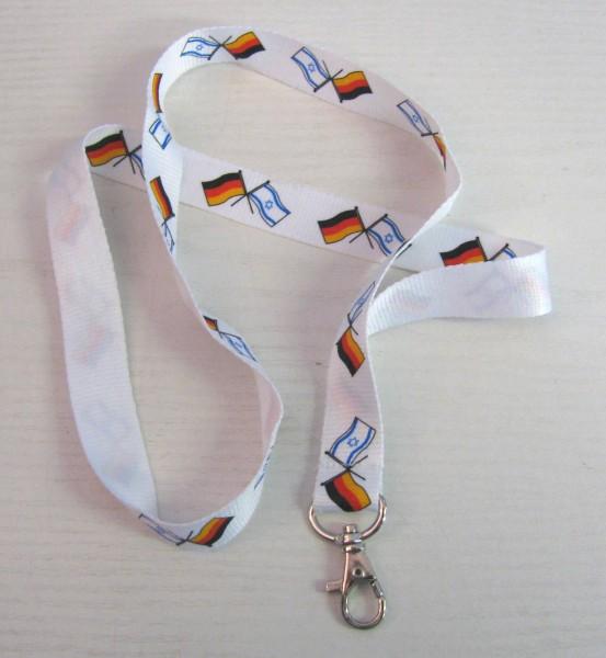 Schlüsselband mit israelischer & deutscher Flagge