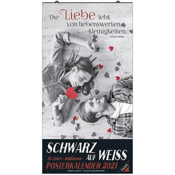 Schwarz auf Weiss - Großer Posterkalender 2021