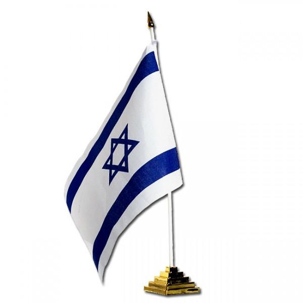 Israel-Fahne mit Fuß, ca. 17 cm x 10 cm