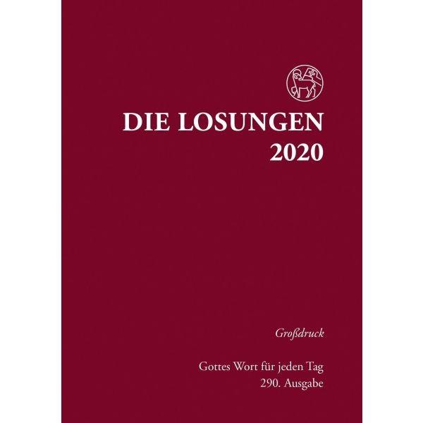 Losungen 2020 rot, Großdruck