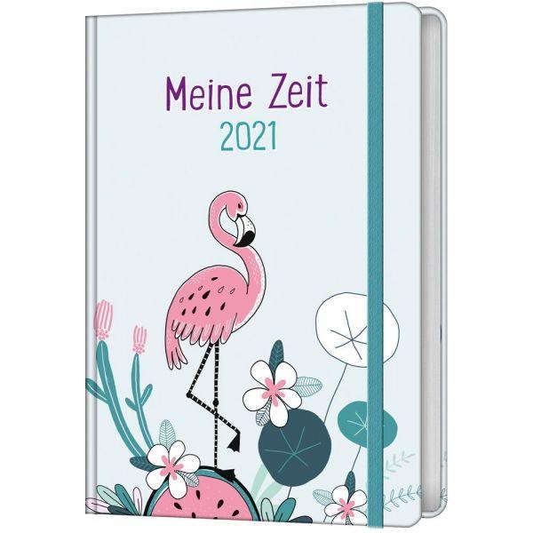 Meine Zeit 2021 - Taschenkalender (Farbenfroh)