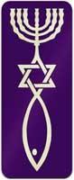 Aufkleber Urchristenzeichen / messianisches Zeichen