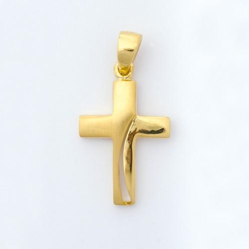 "Anhänger ""Kreuz"", vergoldet"