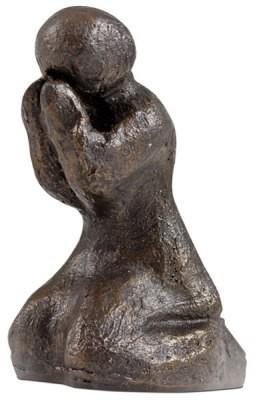 """Skulptur """"Betend"""" bronzefarben"""