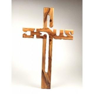 "Olivenholz-Kreuz ""Jesus"" 20 cm"