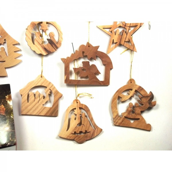 Weihnachtliche Baumanhänger - Set (Mischung aus eckig und rund)