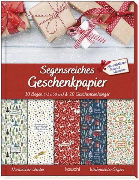 Geschenkpapier: Geschenkpapier-Buch: Weihnachts-Segen
