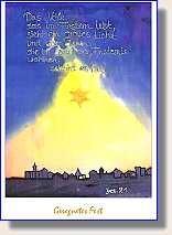 """Weihnachtspostkarte """"Gesegnetes Fest"""""""