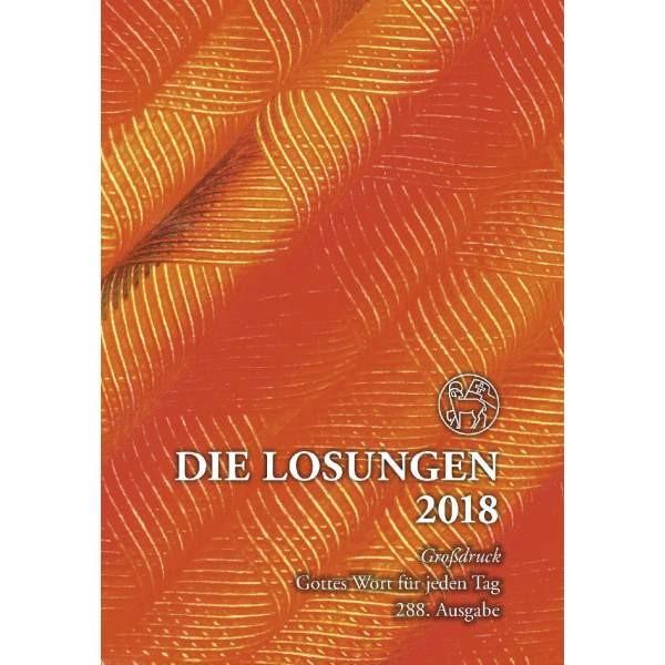 Losungen 2019 bunt, Geschenkausgabe - Großdruck