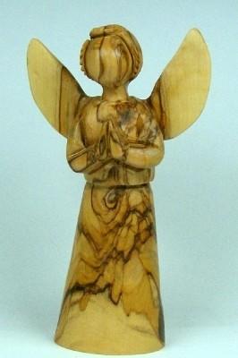 Olivenholz-Engel, stehend ca. 13 cm
