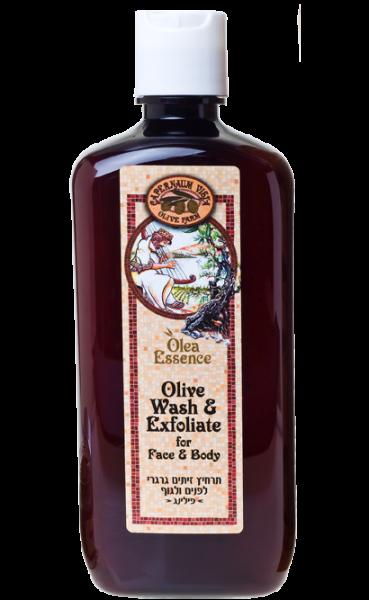 Olea Essence: Intensives Olivenöl-Körper-und Gesichtspeeling 3 in 1 - 500 ml