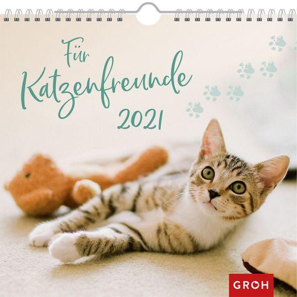 Für Katzenfreunde 2021 - Wandkalender