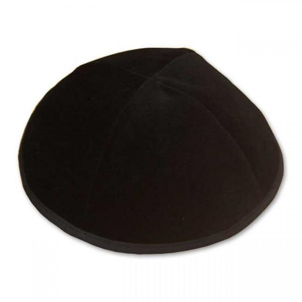Kippa aus Samt - schwarz unifarben