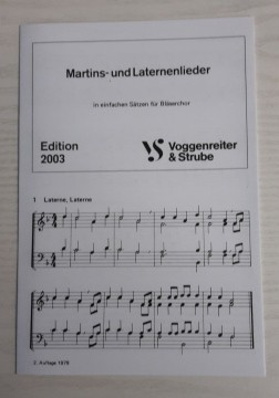 Edition 2003 - Martins - und Laternenlieder