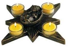 Stern von Bethlehem - Bronzefarbener Steinguss
