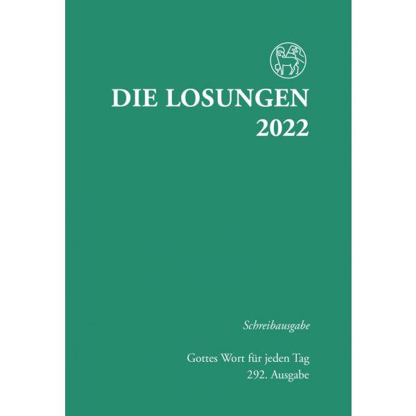 Losungen 2022, grün, Schreibausgabe