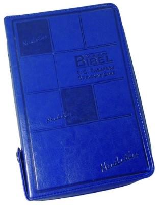Neue Luther Bibel - F.C. Thompson Studienausgabe - blau
