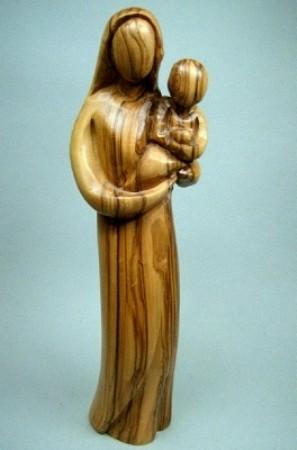 """Olivenholz-Figur """"Mutter mit Kind"""" - ca. 18 cm"""