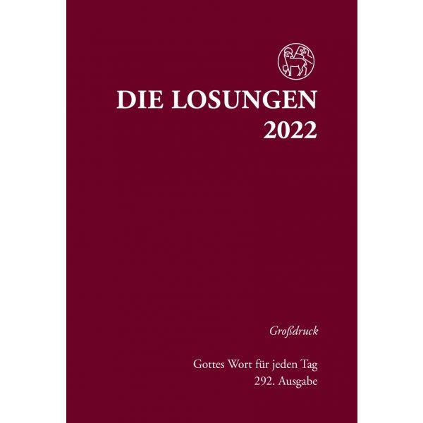 Losungen 2022 rot, Großdruck