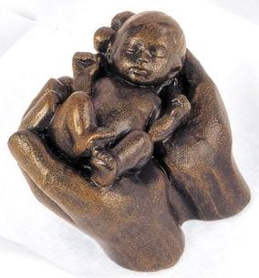 Quelle des Lebens - Bronzefarbener Steinguss