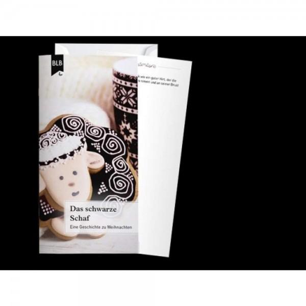 """Briefhülle und Karte mit Bibelvers: """"Das Schwarze Schaf"""" (Set ab 20 Stück)"""