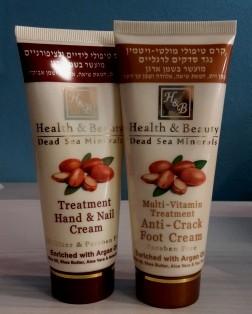 Health & Beauty - Geschenkset Handcreme & Fußpflegecreme mit Arganöl
