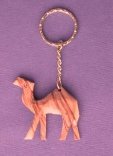 """Olivenholz-Schlüsselanhänger """"Kleines Kamel"""""""