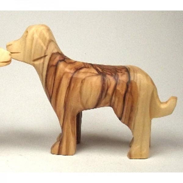 "Olivenholzfigur ""Hund"", glatt"