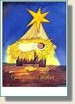 "Weihnachts-Faltkarte ""Gesegnetes Christfest"""
