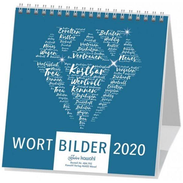 Wortbilder 2020 - Aufstellkalender