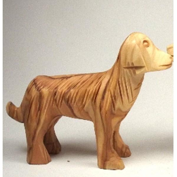 "Olivenholzfigur ""Hund"", kraus"