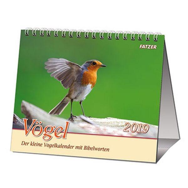 Vögel 2019 - 2 in 1-Tischkalender