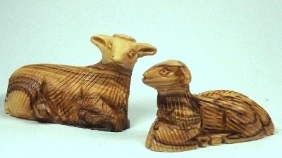 Olivenholz-Schaf kraus