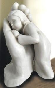 Bleib sein Kind - Marmorguss - 16 cm
