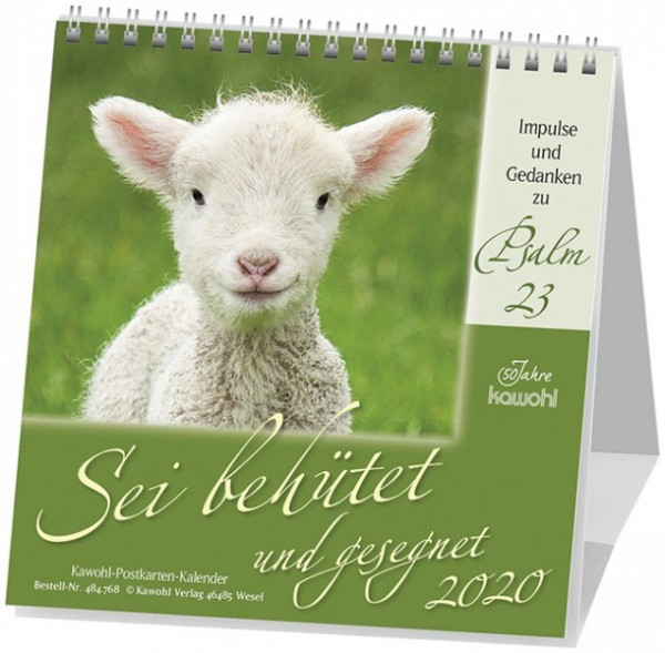 Sei behütet und gesegnet 2020 - Psalm 23 Postkartenkalender