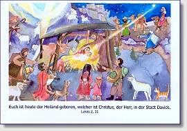 """Weihnachts-Faltkarte """"Euch ist heute der Heiland geboren ..."""""""