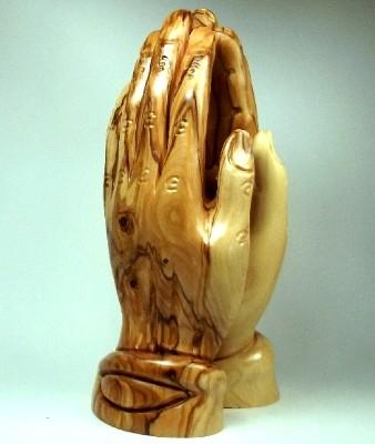 """Olivenholz-Figur """"Betende Hände"""" - 21 cm"""