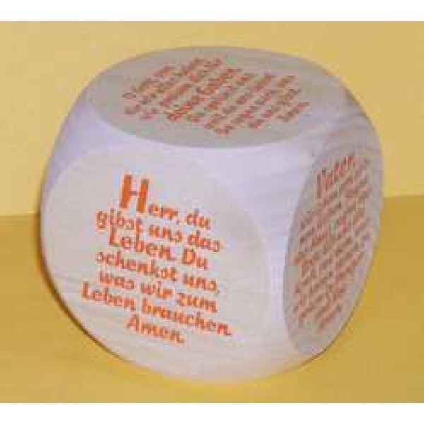 "Gebetswürfel ""Neue Tischgebete"""