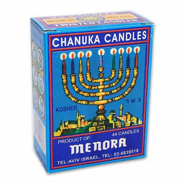 Chanukka-Kerzen, in Spiralform - weiß
