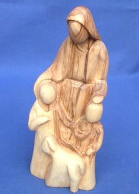 """Olivenholz-Figur """"Jesus segnet die Kinder"""""""