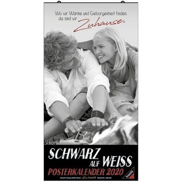 Schwarz auf Weiss - Großer Posterkalender 2020