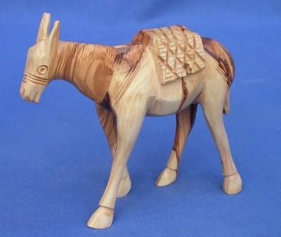 Olivenholz-Esel, ca. 17 cm