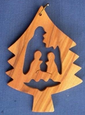 """Weihnachtsbaumanhänger """"Heilige Familie im Baum"""""""
