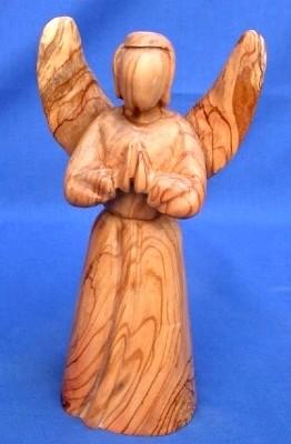Olivenholz-Engel, stehend ca. 20 cm